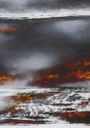 « ...juste après l'orage », 2019, pastel et fusain sur papier, 64x47.5 cm