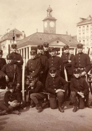 Les cadets de Vevey, en 1929 © Musée historique de Vevey