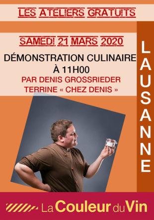 DÉMONSTRATION CULINAIRE - TERRINE CHEZ DENIS
