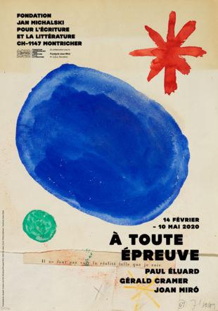 Paul Éluard, Gérald Cramer, Joan Miró | À toute épreuve À toute épreuve, maquette. Fundació Joan Miró, Barcelone © Successió Miró / 2020, Pro Litteris, Zurich / Editions Gallimard