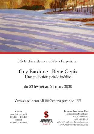 Invitation vernissage Bardone / Genis