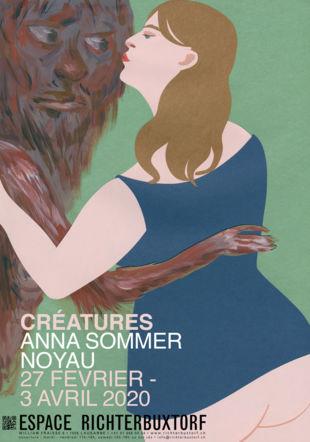 affiche Créatures ©Anna Sommer et Noyau /ERB