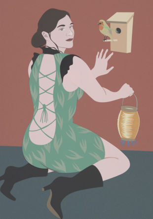 Nichoir, 2020. Papercut, 50 x 73 cm.