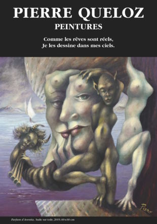Parfum d'Aventia-Huile sur toile-Pierre Queloz.affiche de l'expo