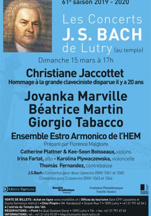 Jacottet concerts Bach
