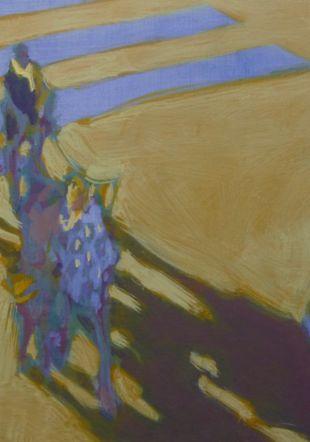 Les piétons - 68 x 68 cm