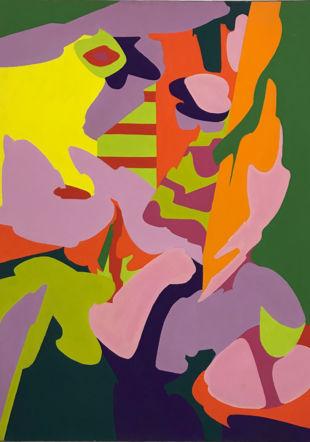 Artias peinture, acryl sur toile ,80 x 65 cm © galerie Numaga