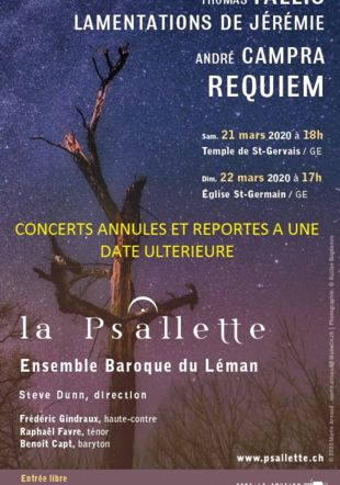 CONCERTS ANNULES