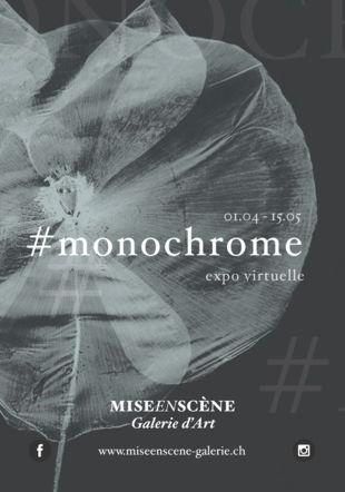 affiche #monochrome ©galerie mise en scène
