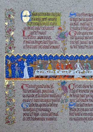 Enluminure du Moyen Âge