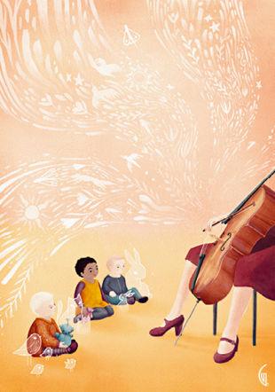 Les Bébé Concerts Illustration: Gaëlle Vejlupek