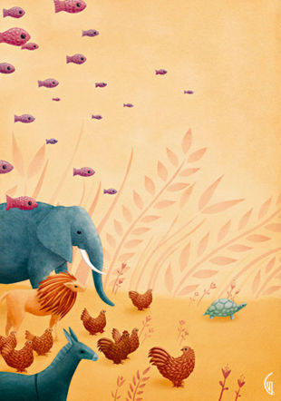 Le Carnaval des animaux iLLUSTRATION: Gaëlle Vejlupek