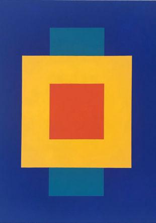 """"""" Deux"""" peinture sur toile, 80/80 cm, 2020 © Claude Augsburger"""