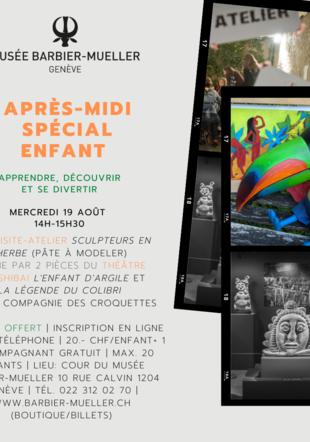 Flyer Visite Atelier Théâtre 19/08/2020