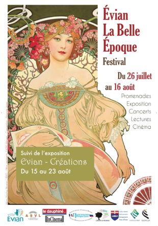 Affiche du festival Evian la Belle Époque 2020