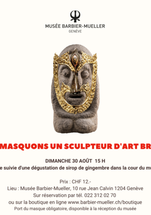 Flyer visite du 30 août musée Barbier-Mueller