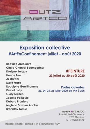 Exposition collective #Peinture blitz artco