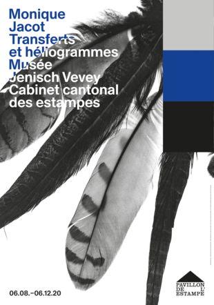 Monique Jacot. Transferts et héliogrammes / Affiche Musée Jenisch Vevey