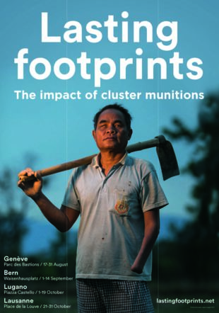 Poster pour exposition LASTING FOOTPRINTS ICRC