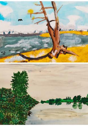 Peintures sur le thème du Lac de Neuchâtel, Cours enfants