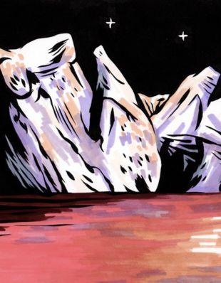 """Amélie Strobino, illustration inspirée de l'ambiance de """"Porosité"""""""