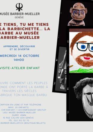 Visite atelier enfants 14 octobre Musée Barbier-Mueller