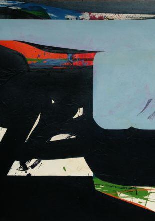 Volpe, Blue Carrier, 1967, huile sur toile, 153x136.5cm