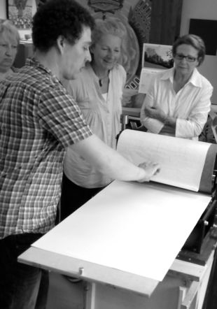 Impression d'une estampe Atelier Coquibus