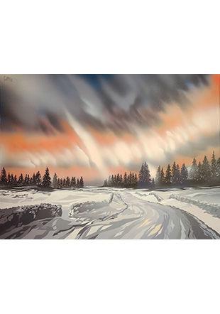 Le Marchairuz, peinture sur toile, 60 x 80 cm © Pierre Cotting