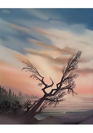 Comme une danse, peinture sur toile, 50 x 40 cm