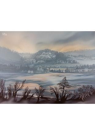 De mon atelier, peinture sur toile, 50 x 65 cm