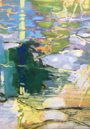 Luc Marelli, sans titre, 2019,  huile sur toile, 150x130 cm