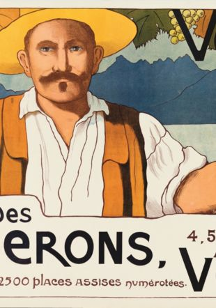 Marguerite Burnat-Provins (1872-1952) Affiche de la Fête des Vignerons, 1905 Lithographie en couleurs sur papier, 75 × 114 cm Musée Jenisch Vevey – Cabinet cantonal des estampes, collection de la Ville de Vevey