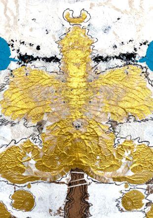 Ange quantique (détail) - Monica Zeitline Acrylique et feutre sur papier - 72 x 110 cm monica zeitline
