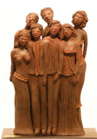 sculpture d'Aline Schumacher - Oud'art Espace culturel Bleu de Chine