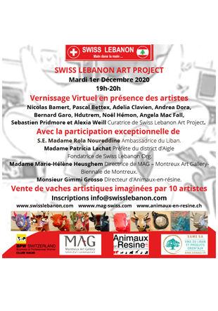 Vernissage virtuel -  1er décembre Swiss Lebanon Art Project