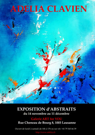 Exposition d'ABSTRAITS Adelia Clavien