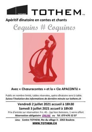 Coquins # Coquines, spectacle Cie APACONTé et Choeuracontes