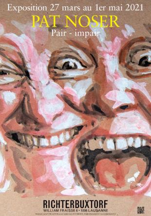 Extrait de 35-Eyed Pattern, 2020. Encre et gouache sur papier, 31 x 320 cm. © Pat Noser/RichterBuxtorf