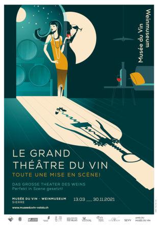 Affiche de l'exposition Musée du Vin, 2021