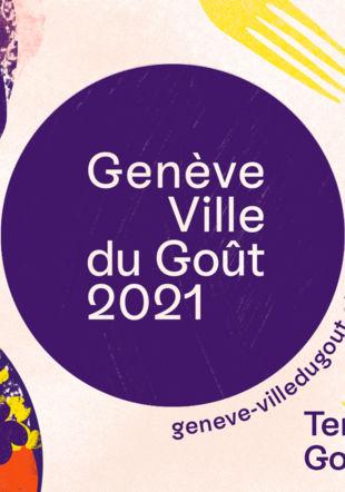 """Affiche """"Genève, ville du Goût"""" Ville de Genève / AMI"""