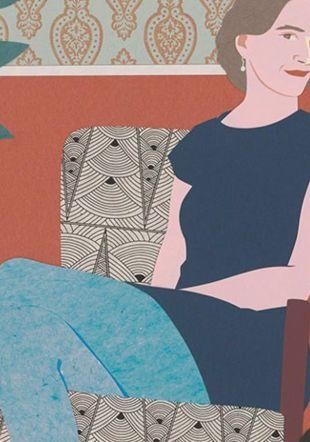 Anna Sommer (Araau *1968), Felicitas, 2020, Papiers de couleur découpés, 700 × 500 mm, Collection particulière