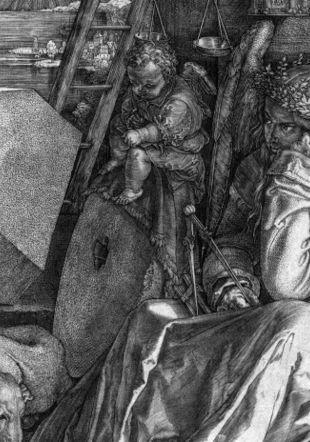 Albrecht Dürer (1471-1528), La Mélancolie ou Melencolia I, 1514. Burin sur papier vergé, 239 × 186 mm Fonds des estampes du Professeur Pierre Decker. Musée Jenisch Vevey. Photo: Antonio Manisalco