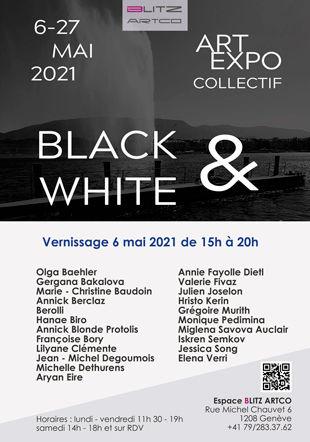 Exposition collective Black & White Blitz Artco