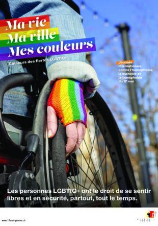 Affiche de la campagne LGBTIQ+ Ville de Genève