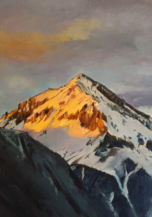 Peinture à l'huile du Chavalard Ludovic Perrenoud
