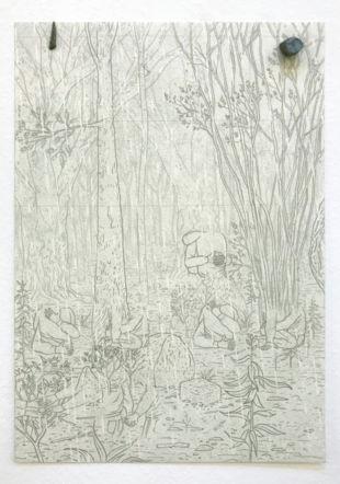 Jorge Satorre, Chamarra negra, sudadera gris, 2020.