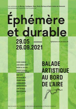 Flyer exposition Ephémère et durable Atelier Michel Schnegg