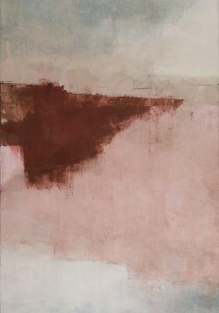 Giulio Camagni, #13, 2019, pigments, cendre et médium acrylique sur toile, 180x120cm Camagni/Ditesheim&Maffei