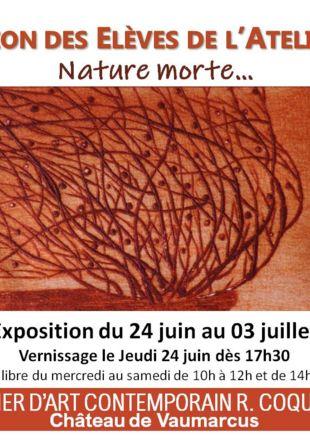 Nature morte, R. coquibus, burin Atelier Coquibus